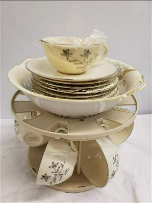 Set of Lenox Dishes on carrying piece