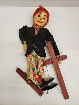 Hand made clown marionette
