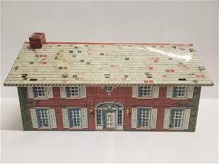 Vintage Marx tin 1859 Civil War Brick mansion house