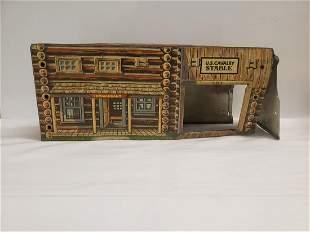 Vintage Marx western tin toy Jail US Calvary Stable