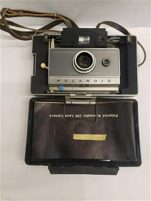 Vintage Polaroid Land camera automatic 100 camera with