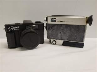 Vintage Kodak M24 Instamatic and Supreme SAE-1 cameras