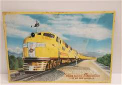 Union Pacific Streamliner City of Los Angeles tin sign