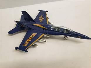 Vintage metal US Navy toy plane