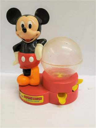 Vintage Mickey Mouse Gumball bank