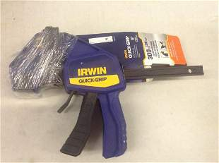 Box of Irwin Quick-Grip Clamps