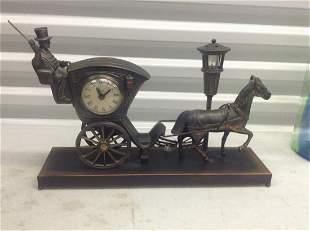 "United Metal Goods Vintage Clock and nightlight 16"""