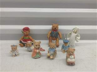 Lot of Dept 56 and other vintage teddy bears