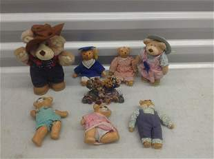 Large lot of vintage teddy bears