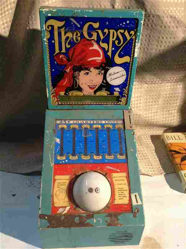 980 Coin OP Arcade Games The Gypsy 25 cent Metal