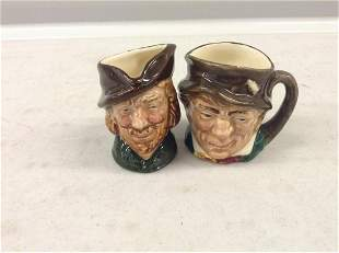 Two Royal Doulton Miniature Tobys