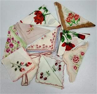 Vintage Ladies Hankerchiefs