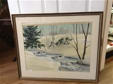 Original Watercolor 1940's Stephen Hamilton 31.5x26