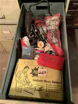 Drawer full of vintage tools