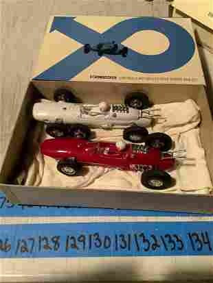 Two Strombecker 1/32 Scale Slot Cars with the box