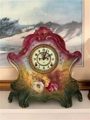 """German Porcelain Clock Circa 1825 14"""" tall"""
