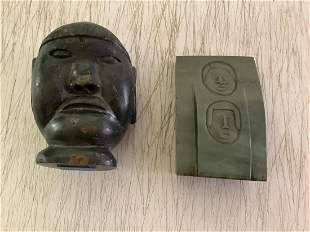 Early Carved Jade & Stone Statues