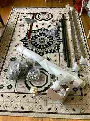 Restoration Hardware Curtain Rods, Finials, Tie Backs