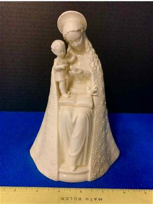 Mary and Child awsome Porcelin Statue, made in W.
