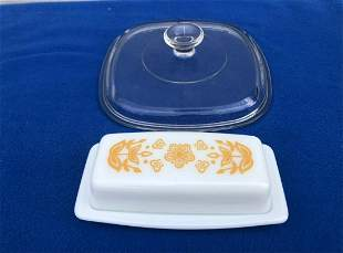 Vintage Pyrex Butter Dish and pyrex lid