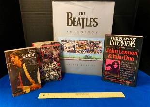 Lot of 4 Beatles Books, Including, Anthology, The
