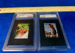 graded 1997 Tiger Woods Sand trap 30382618 Stamp and