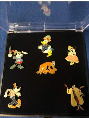 Walt disney Animators choice 6 collector pin set in box