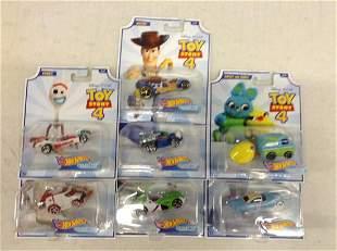 Lot of Disney Toy Story 4 Hot Wheels Cars