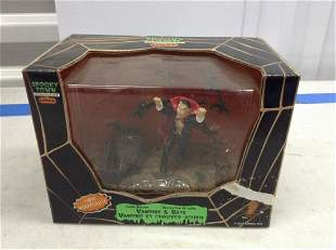 Spooky Town vampire and bats figure