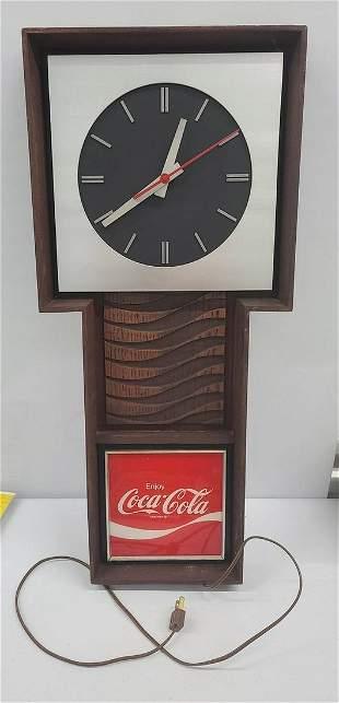"""Vintage Coca-Cola Clock Works 28"""""""