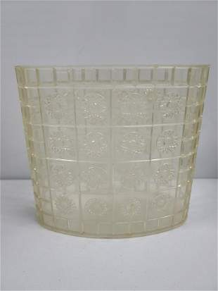 Midcentury Lucite Trash Can