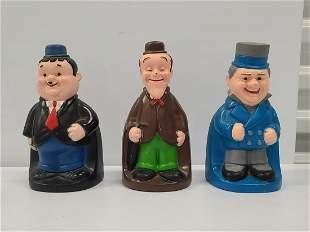 "Laurel & Hardy Plastic Banks 7.5"" tall"