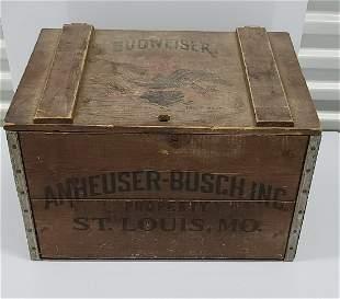 Vintage Budweiser Wooden Crate 17x12x12
