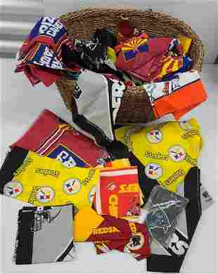Basket Full of NOS NFL Bandanas