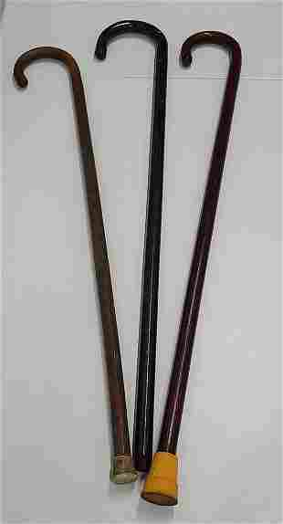 3 Wooden Canes