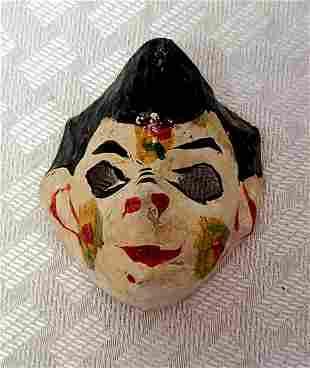 "Handmade Vintage Paper mache Mask 3.5"""