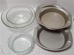 Pyrex Bowls & Anolon Pans