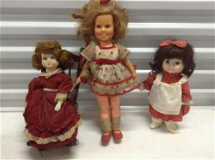 Ideal Shirley Temple Doll and other vintage dolls