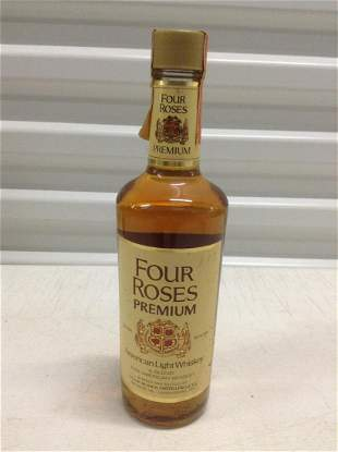 Sealed Four Roses Whiskey Pint Unbroken tax seal