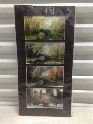 Signed Photographs of the Four Seasons in Central Park