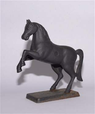 "Cast iron horse statue 7.25"" tall"