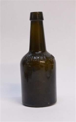 19 Century Johann Hoff dark amber bottle