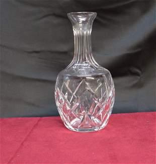 """Clear cut crystal vase 9"""" tall"""