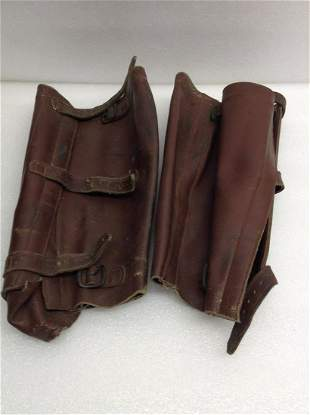 1930s Leather Motorcycle Chaps