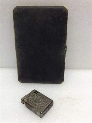 Old Cigarette Case with COLIBRI Lighter