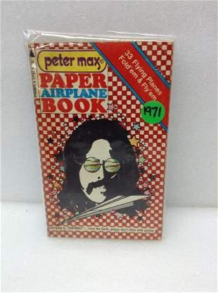 1971 Peter Max Paper Airplane Book