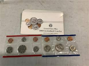 1988 United States Mint Uncirculated Coin Set