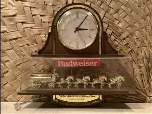 "Budweiser Clydesdale Clock Works! 16"" long x15.5"" tall"