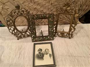 Antique Swing Arm Picture Frames and Framed Black &
