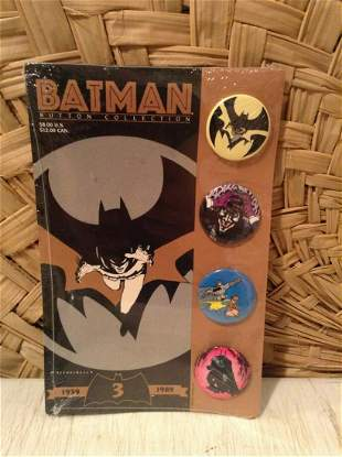1989 Batman Button Collection Still Sealed on the card